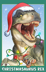 Christmasaurus Rex by D-MAC