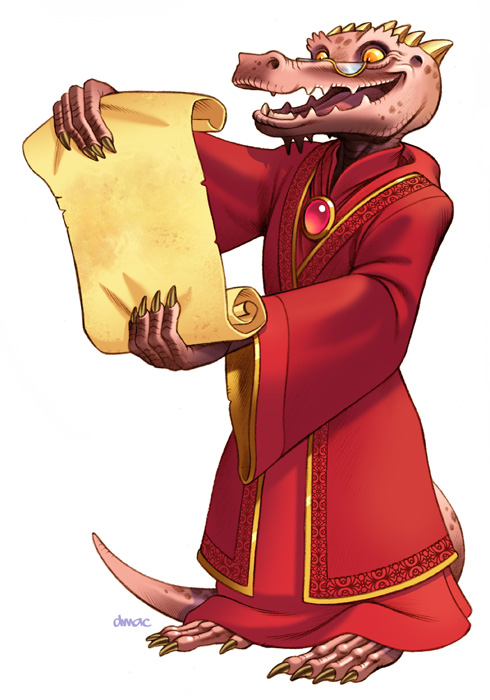 Kobold Reading Scroll by D-MAC