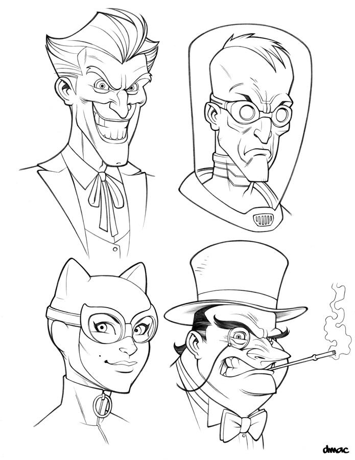 coloring pages batman villains - photo#20