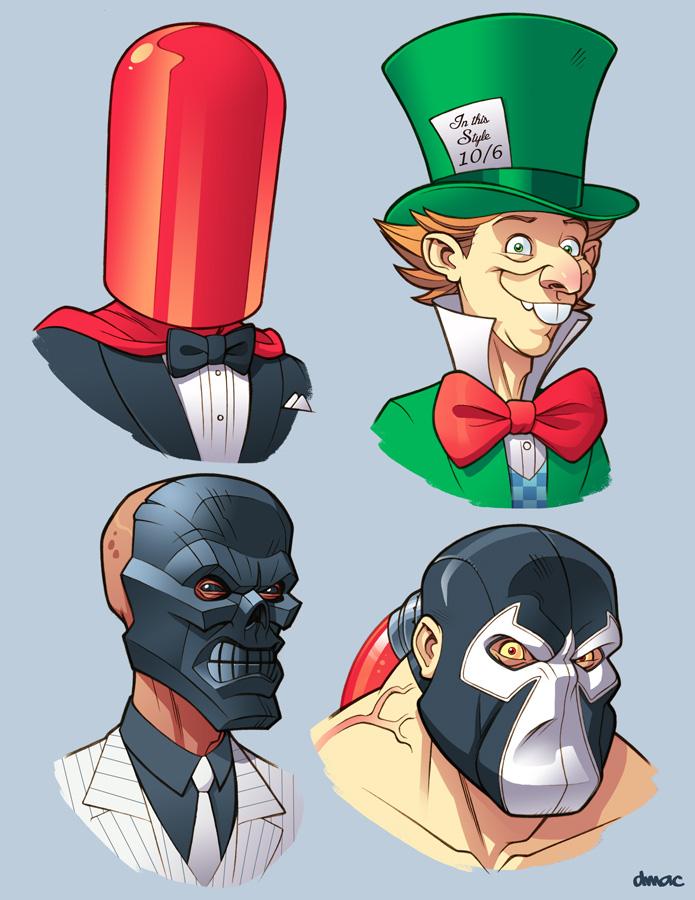 Bat Villains in Color 5 by D-MAC