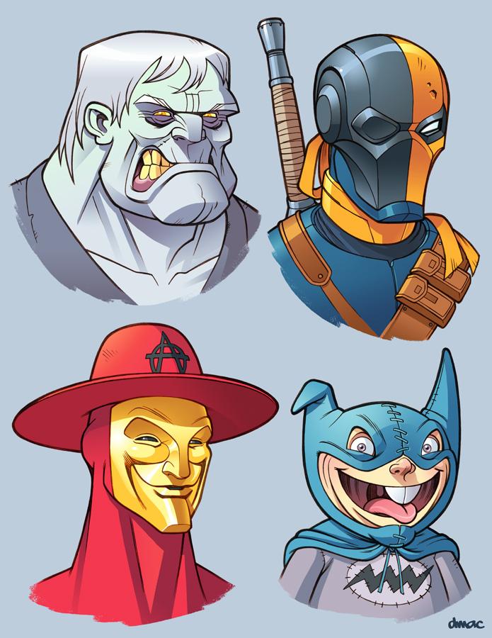 Bat Villains in Color 6 by D-MAC