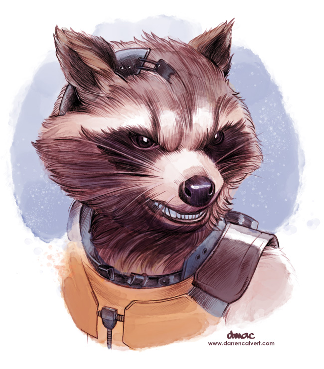 Star Lord And Rocket Raccoon By Timothygreenii On Deviantart: Rocket Raccoon By D-MAC On DeviantArt