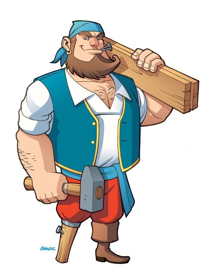 Pirate Carpenter by D-MAC