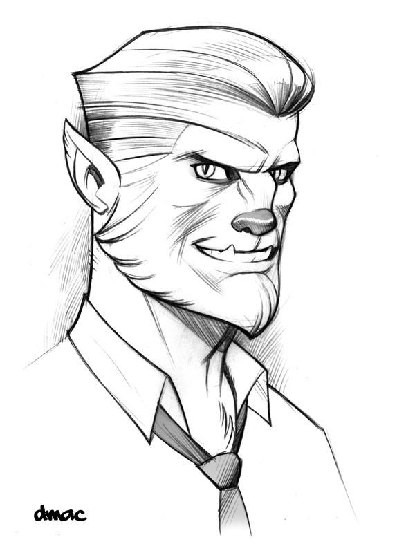 Werewolf Sketch by D-MAC