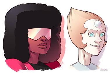 Garnet and Pearl by D-MAC