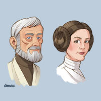 Ben and Leia by D-MAC