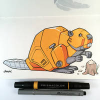 Gas-powered Beaver Bot