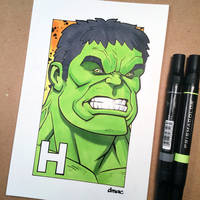 H is for Hulk by D-MAC