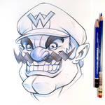 Wario Sketch by D-MAC