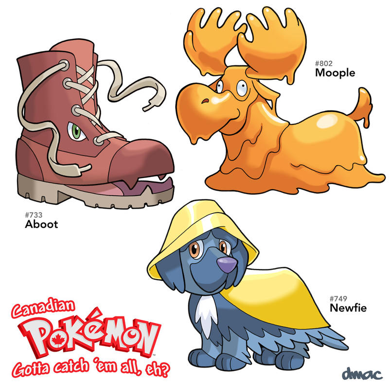 Canadian Pokemon 3 by D-MAC