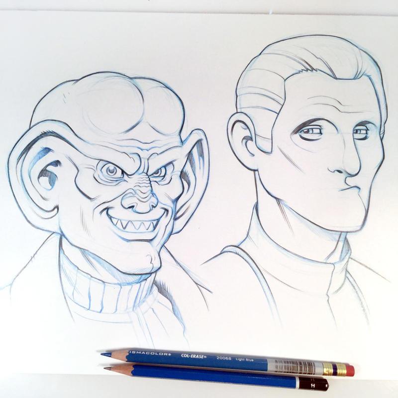 Quark and Odo Sketch by D-MAC