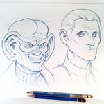 Quark and Odo Sketch