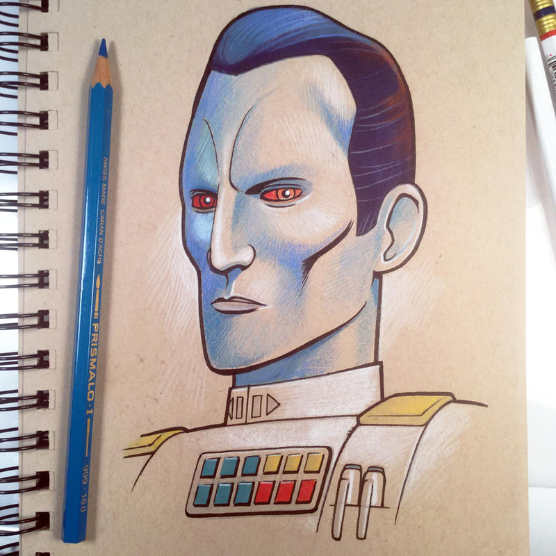 Thrawn Sketch by D-MAC