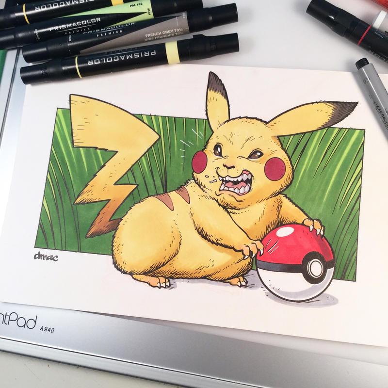 A Wild Pikachu Appeared by D-MAC