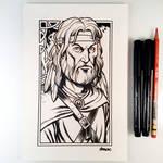 Inktober Day 6 - Tanis Half-Elven