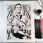 Inktober Day 10 - Ash vs. Evil Dead