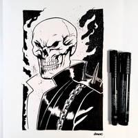Inktober Day 13 - Ghost Rider by D-MAC