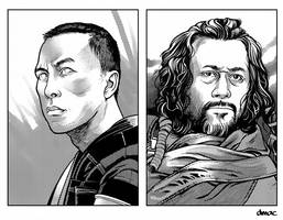 Chirrut and Baze Retro RPG Artwork by D-MAC