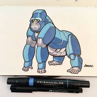 March of Robots Day 2: Gorilla by D-MAC