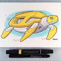 March of Robots Day 23: Sea Turtle by D-MAC