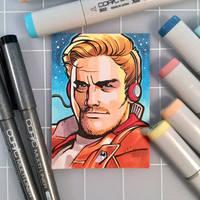 Star-Lord Sketch Card by D-MAC