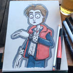 Drink and Draw Tim Burton's Back to the Future