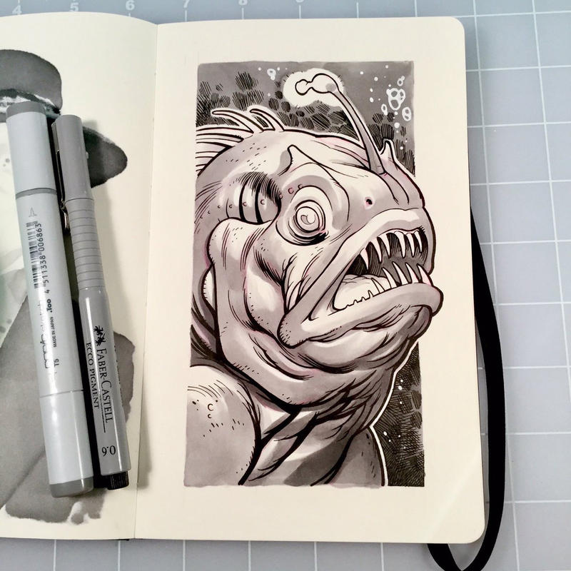 Inktober Day 20 - DEEP by D-MAC