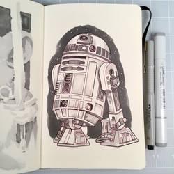 Inktober Day 27 - R2-D2 by D-MAC