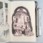 Inktober Day 27 - R2-D2