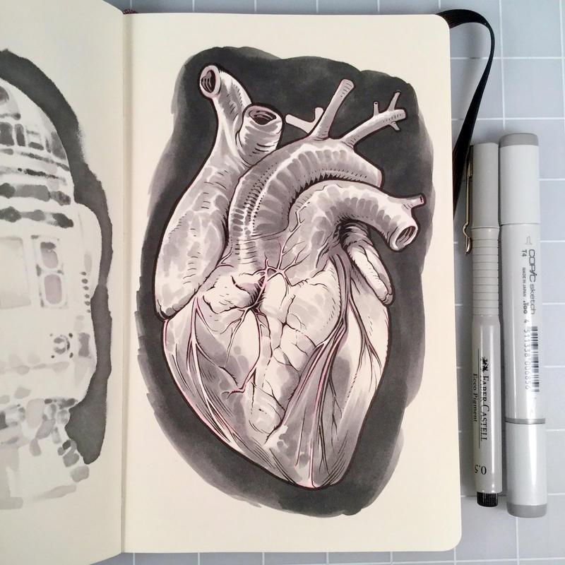 Inktober Day 28 - HEART by D-MAC