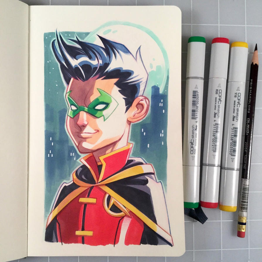 Robin Marker Drawing by D-MAC