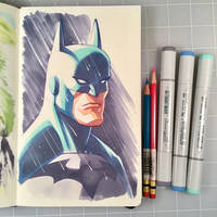 Batman Marker Drawing by D-MAC