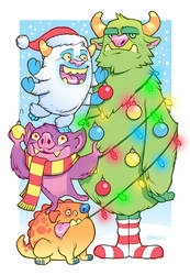 Monster Christmas by D-MAC