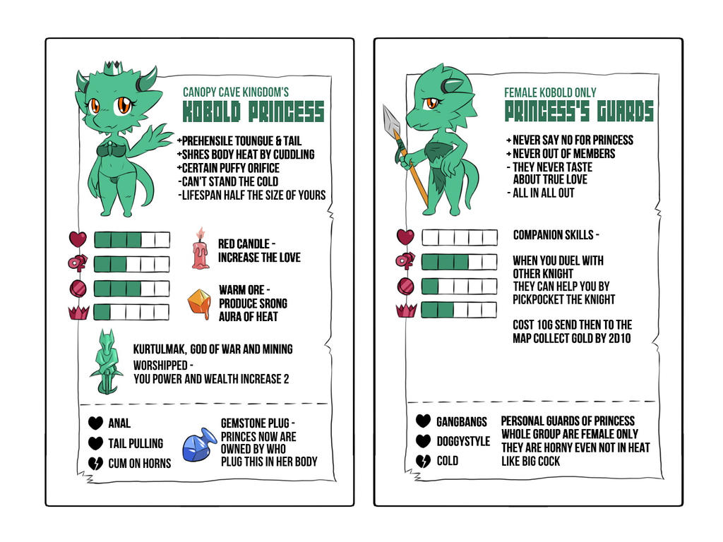 Towergirls Table Game Project Kobold Princess By Sewlde