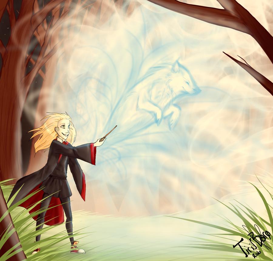 HP: patronus charm by Nekoshiba
