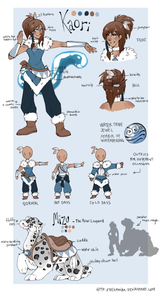 The legend of Korra: Kaori OC by Nekoshiba