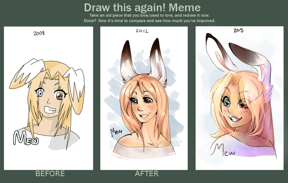 Draw this again meme 2012 / 2015 by Nekoshiba