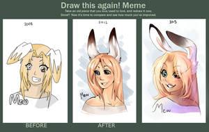 Draw this again meme 2012 / 2015