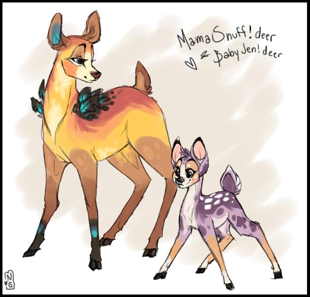 deer mama by Nekoshiba