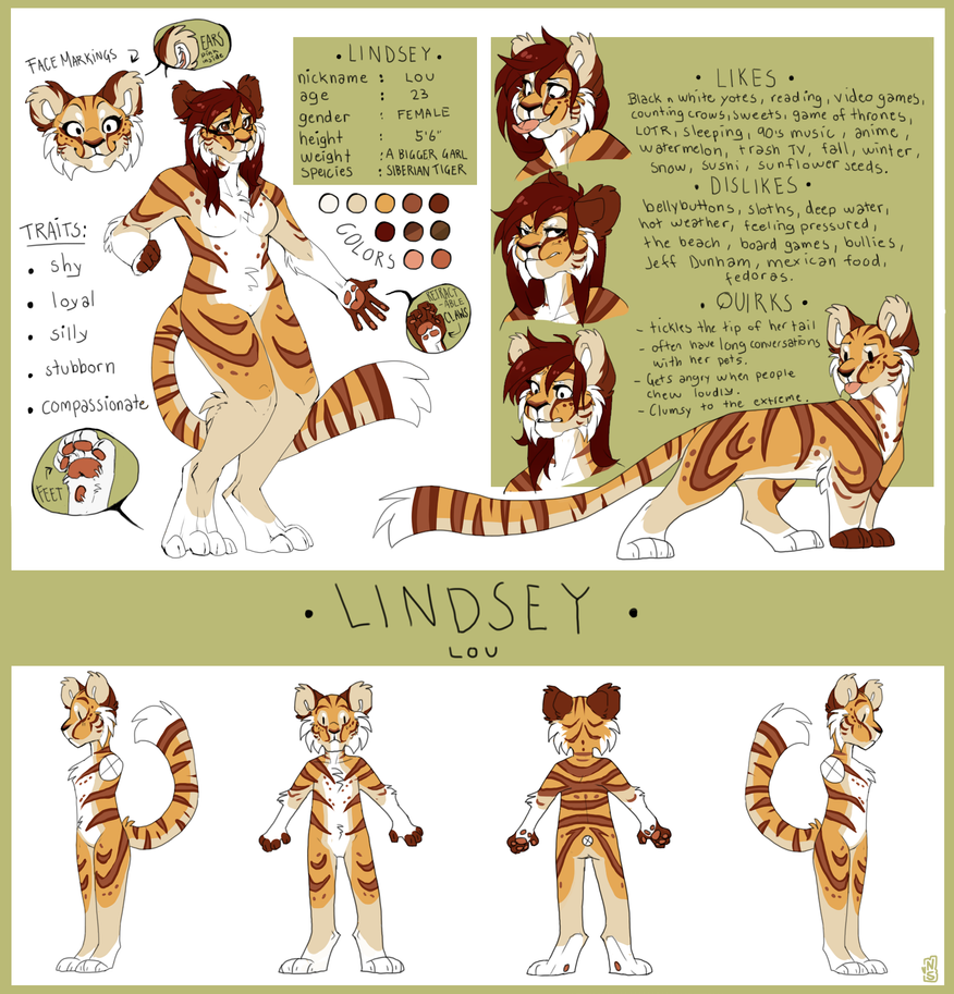 Lindsey Lou reference sheet by Nekoshiba
