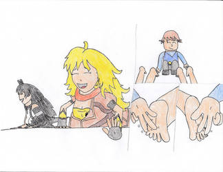 Zak tickles Yang and Blake by Old1995