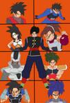 personajes de dragon ball td by agustin902
