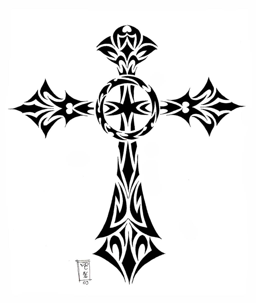 Pictures Of Tribal Cross Tattoos: Tribal Cross By MoRobles On DeviantArt