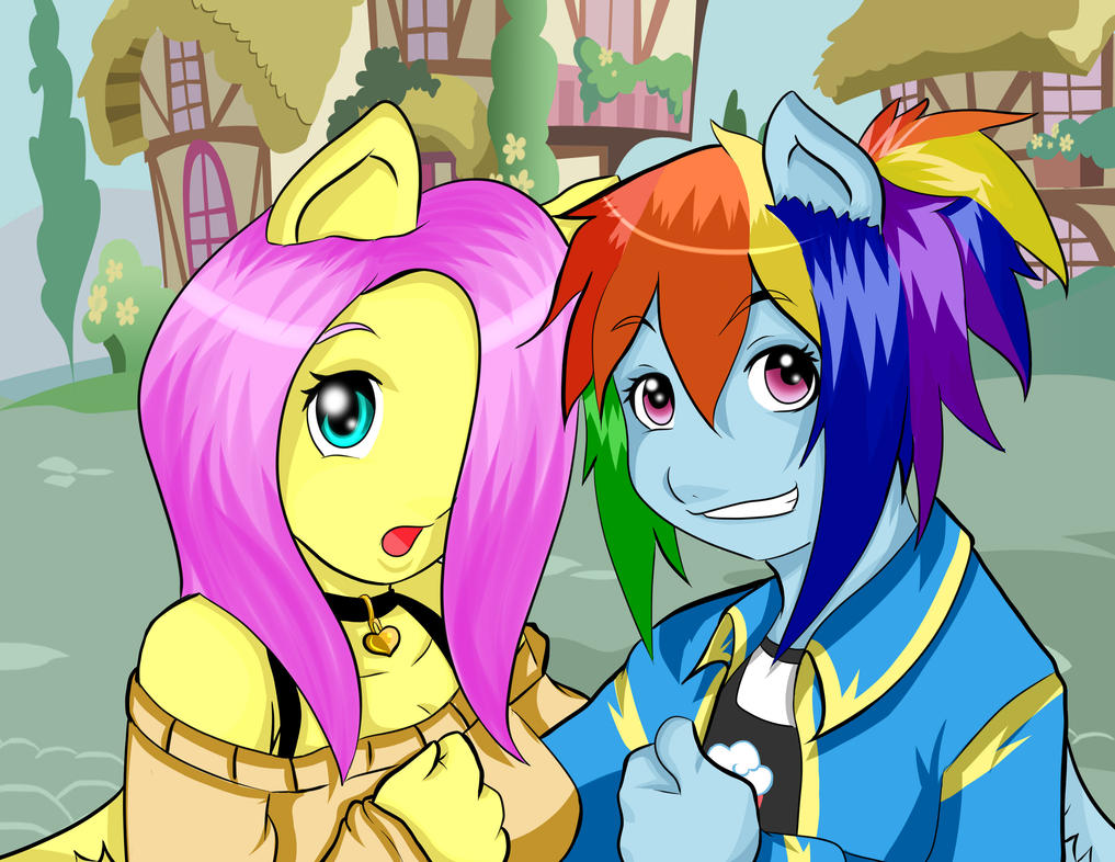 Rainbow Blitz x Rainbow Dash Human Dash And Rainbow Blitz by
