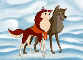 Balto and Jenna together by Deviantart-Painter