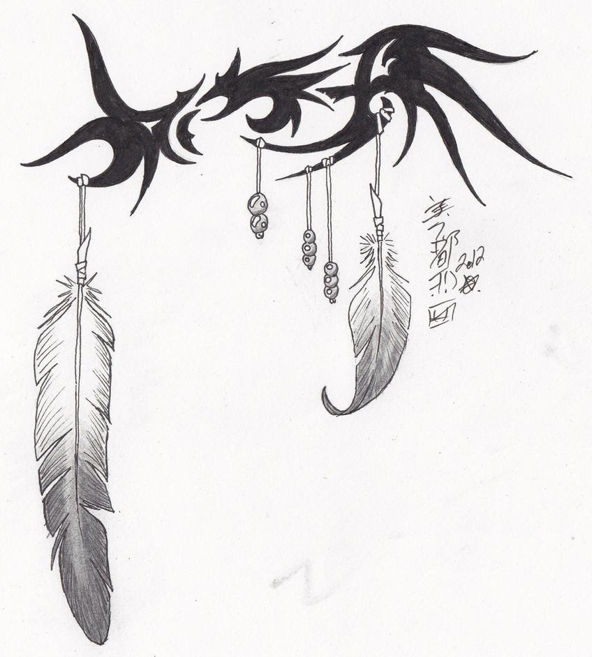 tribal eagle feather by syrazel nightrose on deviantart. Black Bedroom Furniture Sets. Home Design Ideas