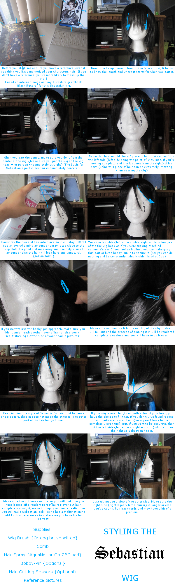 Styling the Sebastian Wig by Leuong