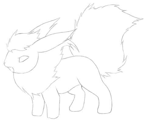 Cute flareon coloring pages sketch coloring page for Flareon coloring page