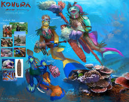 Beneath the waves - Kohura reef community by Kiabugboy