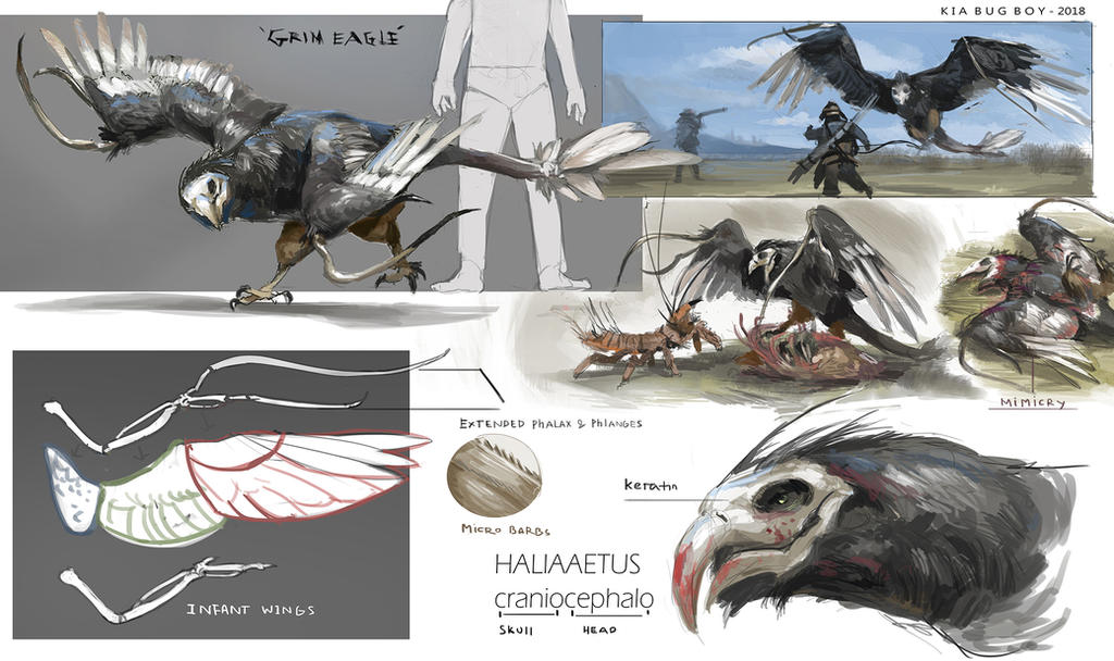 Grim eagle- Nomads project by Kiabugboy